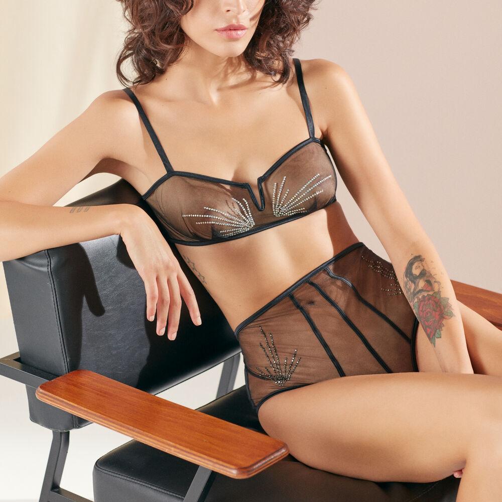 Soft bra black.