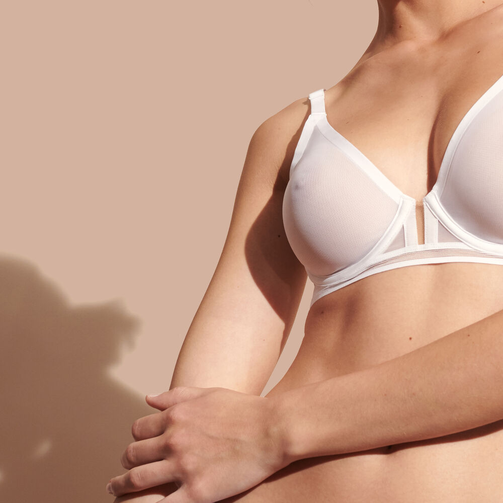 Wire bra white.
