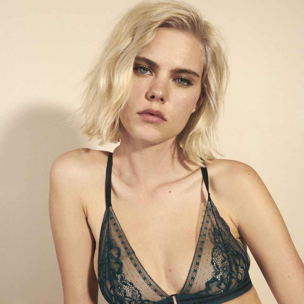 Soft bra jungle green.