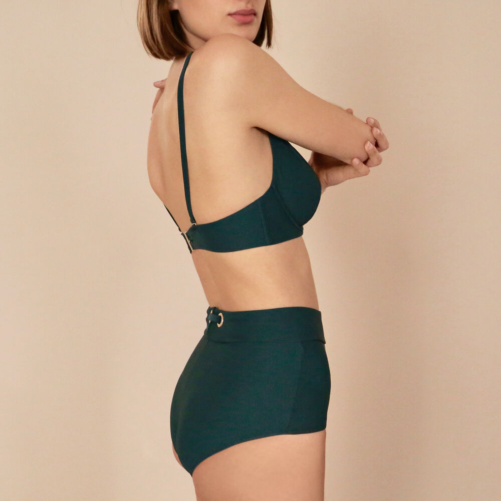 High waist brief livystone green.