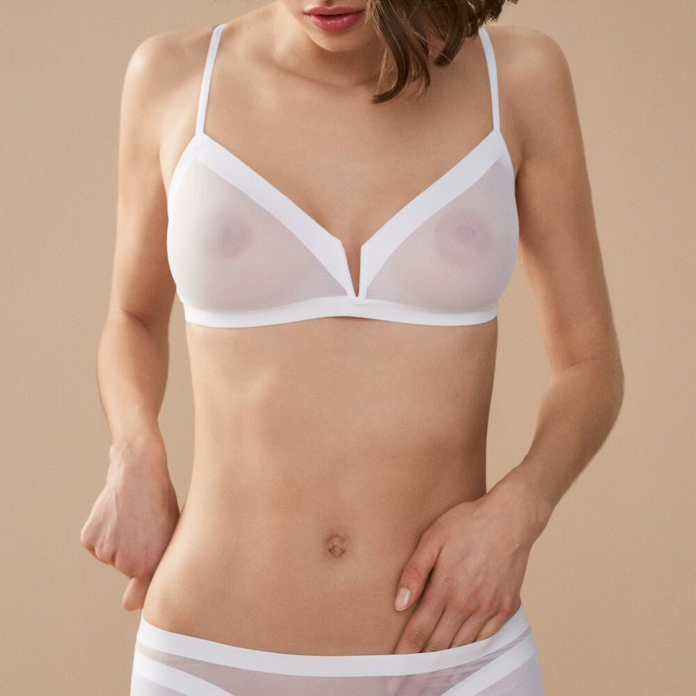 Soft bra white.