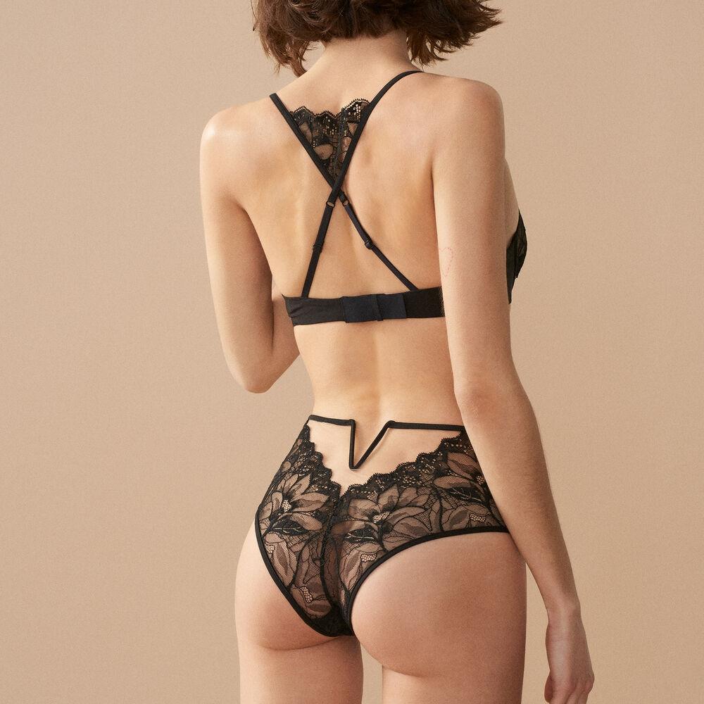 High waist brief black.