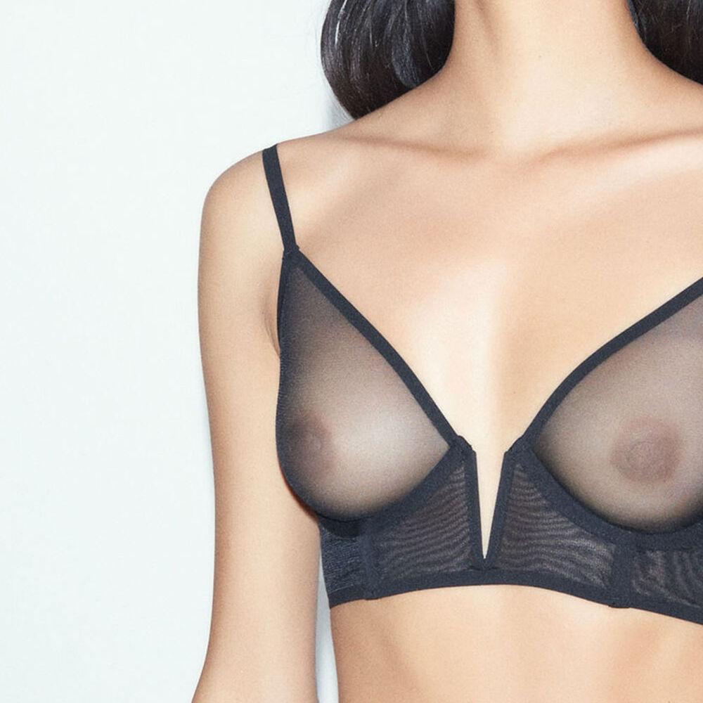 Wire bra black.