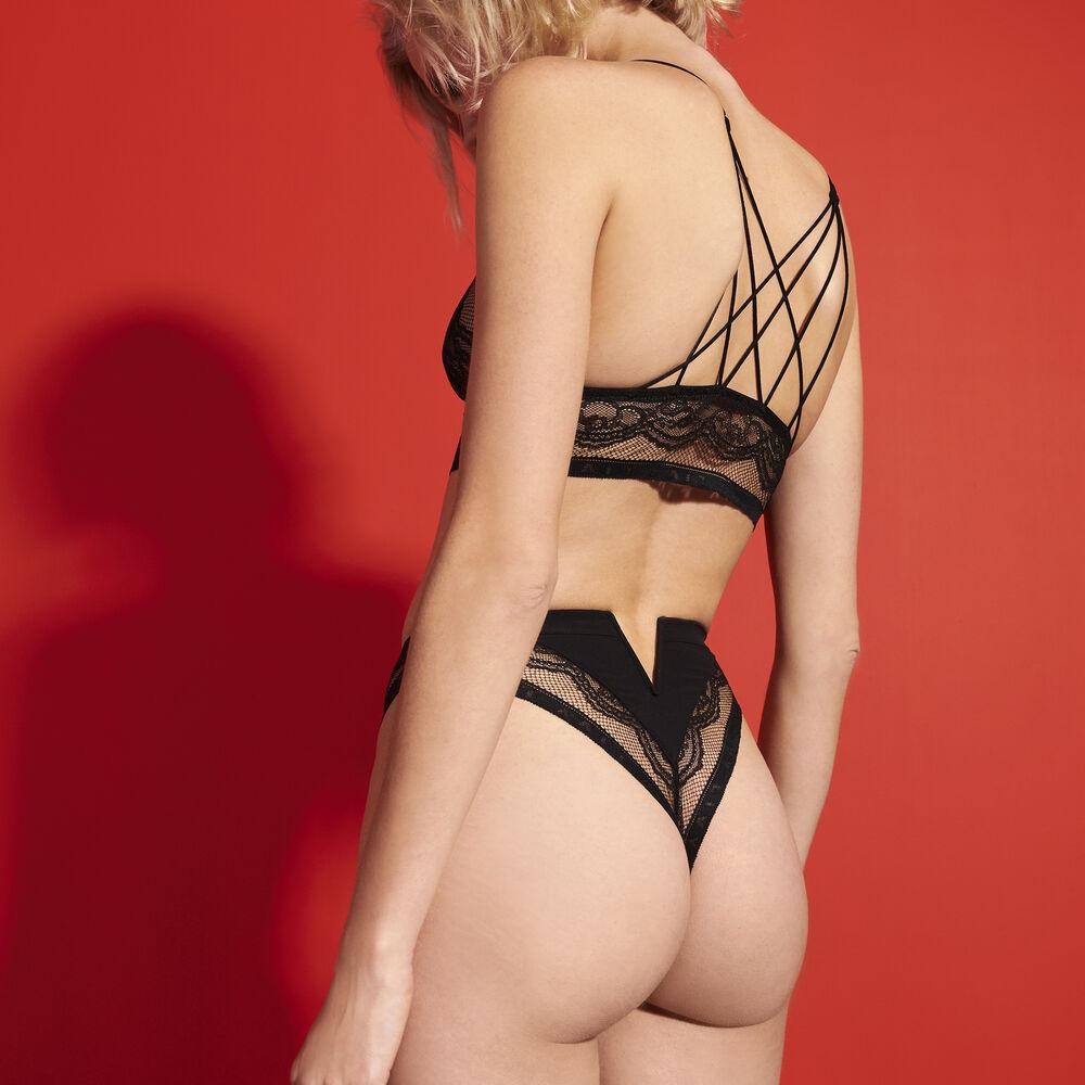 High waist black.